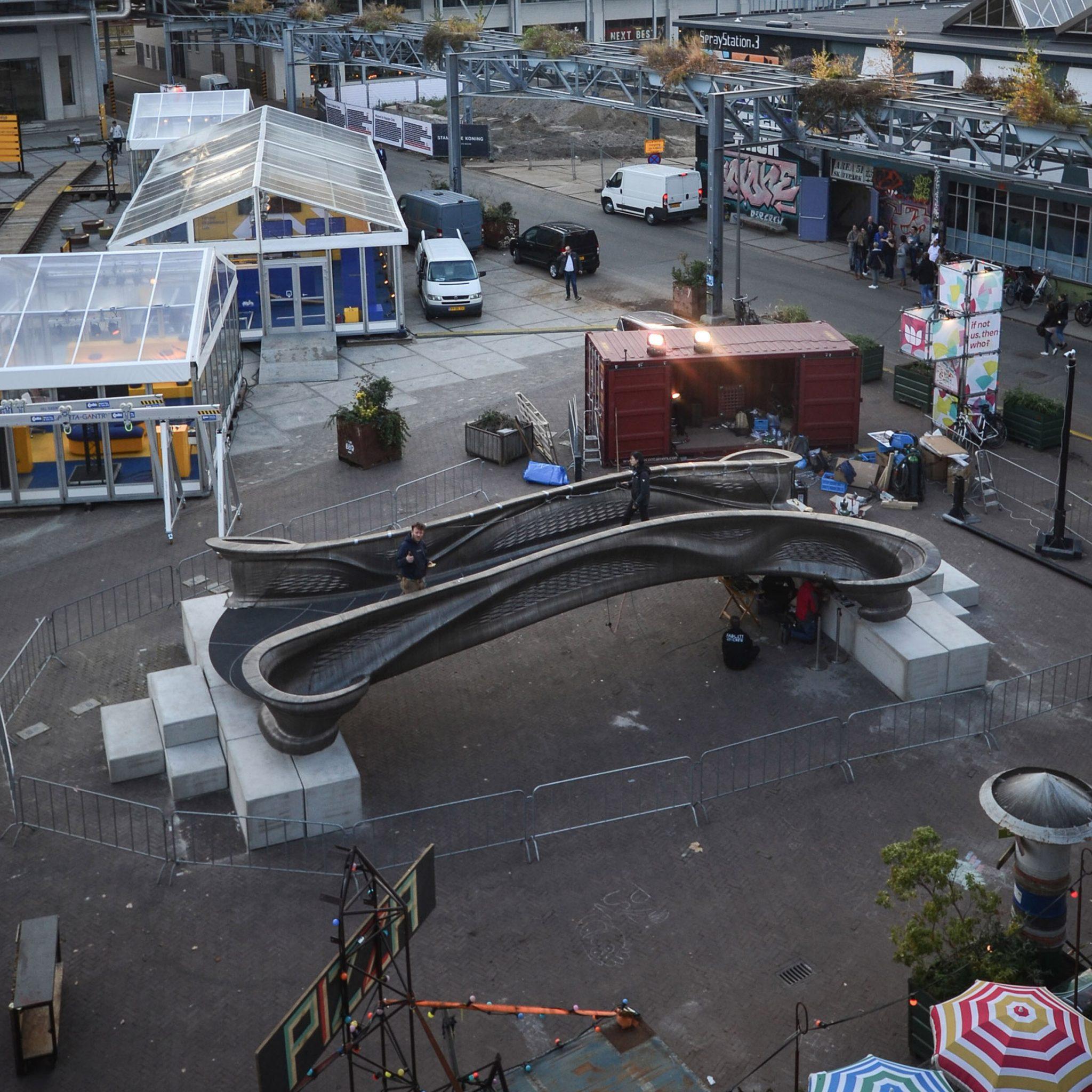 3D yazıcı ile yapılan köprü-Yerine konmamış hali
