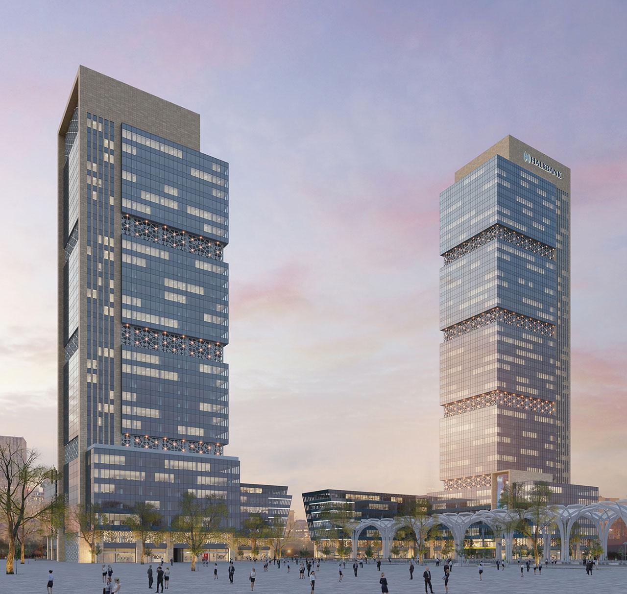 HALKGYO Finans Merkezi Kuleleri